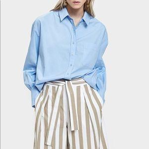 Mijeong Park oversized blue shirt